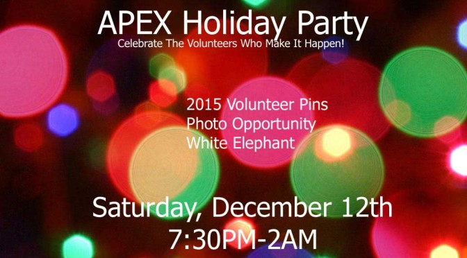 APEX Holiday Party-Celebrate our Volunteers!