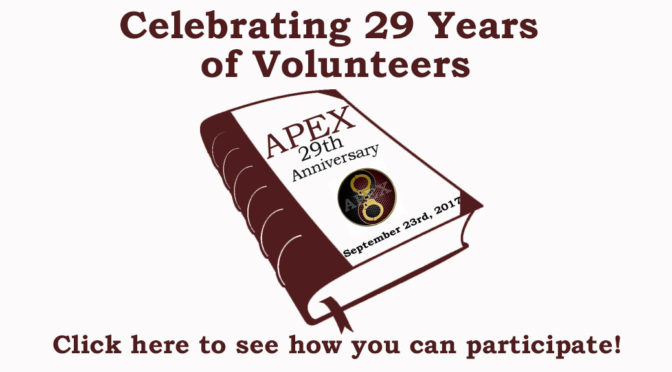 APEX Celebrates 29 Years of Volunteers