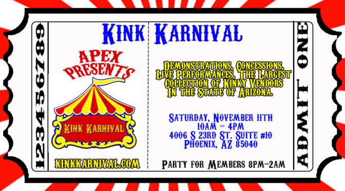 2017 APEX Kink Karnival: November 11th 10am-4pm